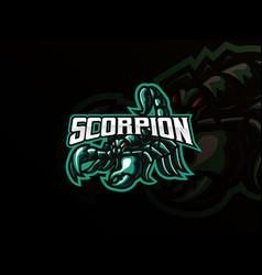 scorpion mascot sport logo design vector image
