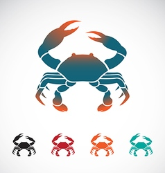 Set of crab icons design vector image