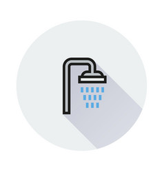 shower icon on round background vector image
