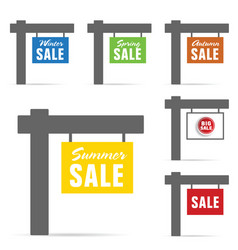 signboard of sale set vector image