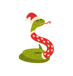 Snake symbol of new year cute animal of chinese vector