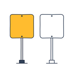 square road traffic sign icon in outline doodle vector image