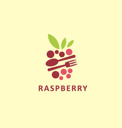 stylized graphic logo symbol raspberry vector image