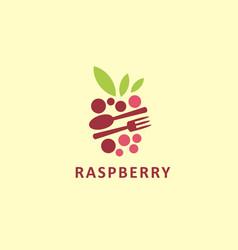 stylized graphic logo symbol raspberry vector image