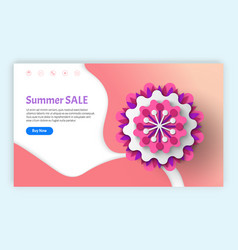 summer and spring sale and discounts websites vector image
