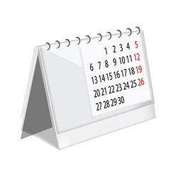 Table calendar vector image