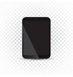 tablet with white screen flat icon computer on vector image