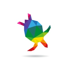 Turtle icon logo vector