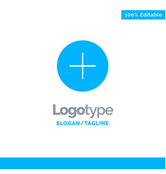 Twitter add contact blue solid logo template vector