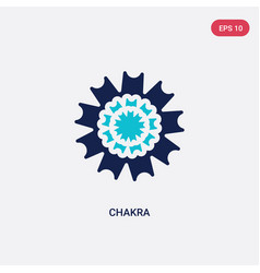 Two color chakra icon from india and holi concept vector