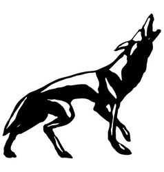 wolf howl vector image