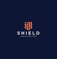 Xr shield logo vector