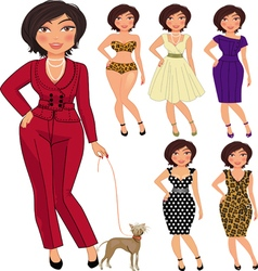 Pretty woman vector image vector image