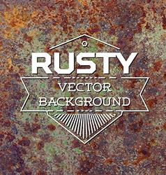 Rusty metal background vector image