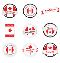 Set of Made in Canada labels badges and stickers vector image