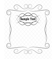 simple frame vector image