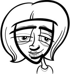 young woman cartoon sketch vector image