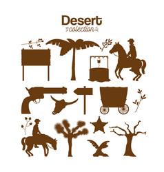 desert collection set vector image