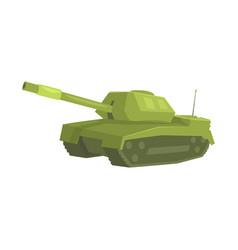 military tank cartoon vector image vector image