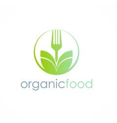 organic food logo vector image