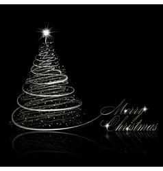 Silver christmas tree vector