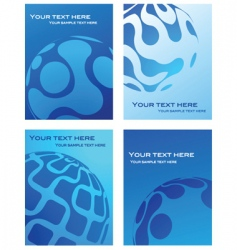 business cards with globe background vector image