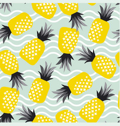 concept simple pineapple seamless pattern vector image