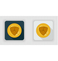 light and dark nem crypto currency icon vector image