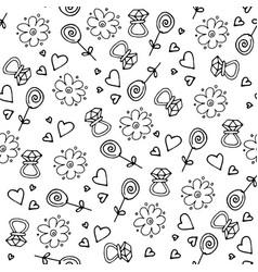 Love symbols seamless pattern happy valentine s vector
