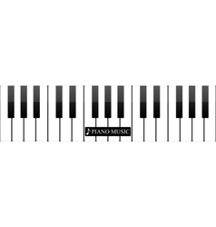 Piano keys abstract musical background vector image
