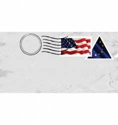 stamp with US flag vector image vector image