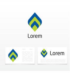 striped leaf vector image vector image
