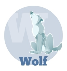 ABC Cartoon Wolf3 vector image