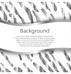 Abstract background with tiger print design vector image