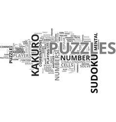 beat the kakuro monster text word cloud concept vector image