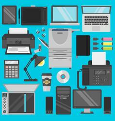 computer office equipment vector image