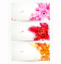Flowers and artistic blots vector