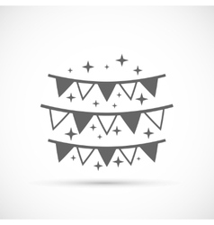 Hanging flags icon vector image