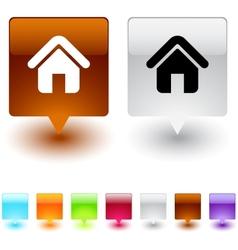 Home square button vector image