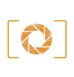 Orange photography logo vector image vector image