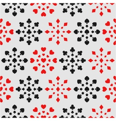 seamless background with card suits vector image vector image