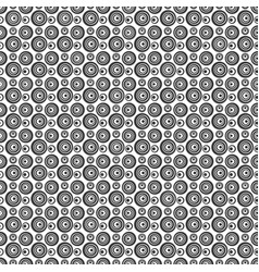 seamless ircles pattern black color vector image vector image