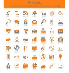 web media icons vector image vector image