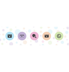 5 action icons vector
