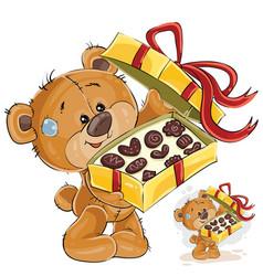 A brown teddy bear treats vector