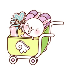 A shopping cart vector image vector image