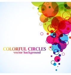 Abstract spectrum circles background vector