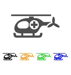 ambulance helicopter flat icon vector image