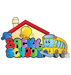 back to school topic 2 vector image
