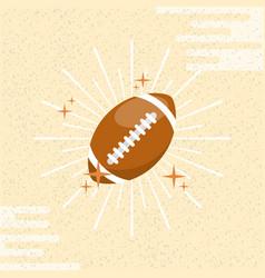 ball sport american football sunburst color vector image